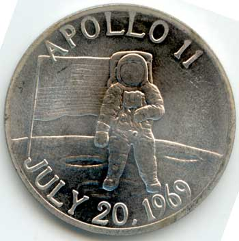 Apollo 13 Coin Containing Flown Metal