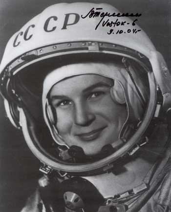 Valentina Tereskova Autographs, the first woman in space