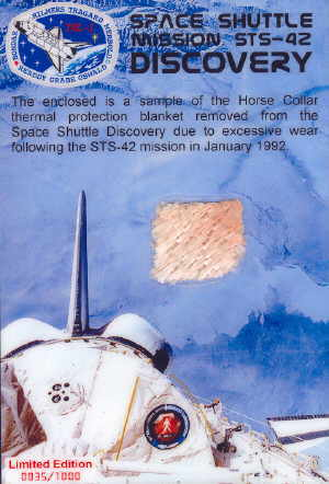 STS-42 Space Shuttle Discovery Flown Relic Card